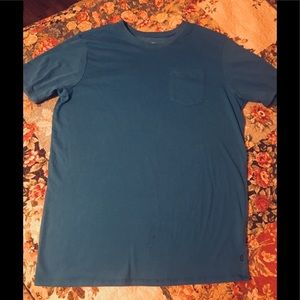 Nike dri fit pocket t-shirt in a blue size Large